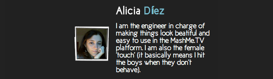 alicia diez Getting to know the MashMeTV Team(II)   Alicia Díez